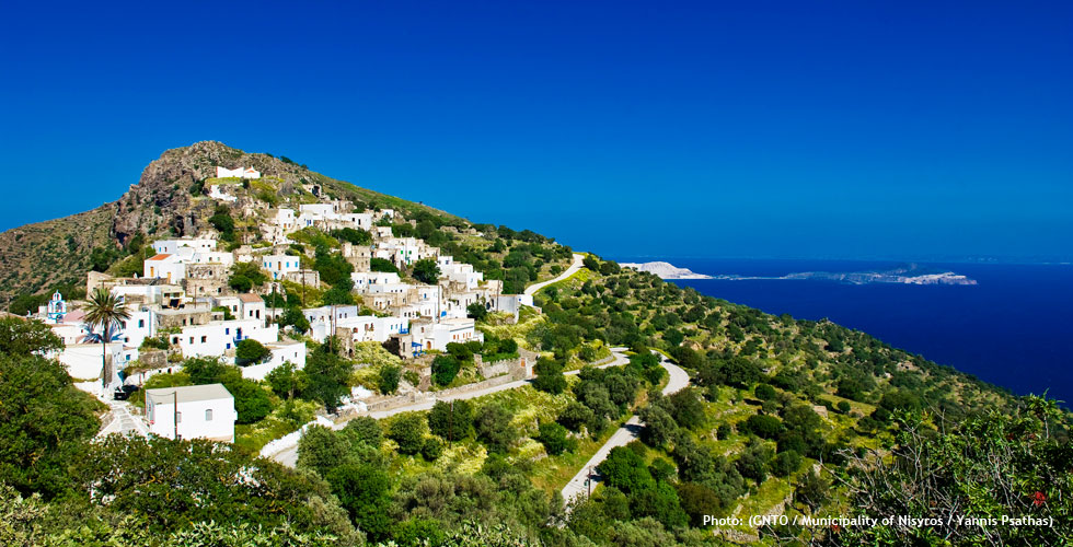 Emborio village in Nisyros island
