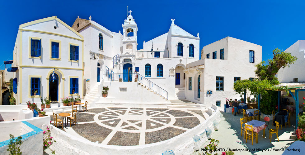 Nikia village in Nisyros