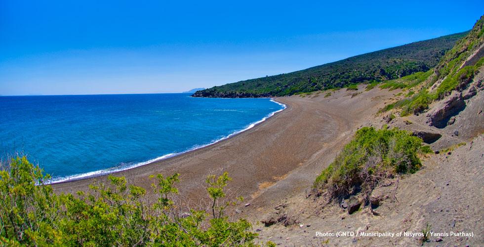 Pachia amos beach in Nisyros